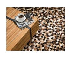 Teppich braun-beige 160 x 230 cm Kurzflor KONYA