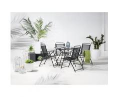 Gartentisch Stahl schwarz 80 x 80 cm LIVO