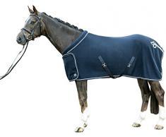 HKM Fleecedecke mit Kragen, dunkelblau, 155