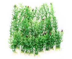 sourcingmap Kunstpflanze für Aquarien, 25,4 cm, Grün
