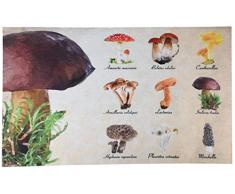 Esschert Design RB223 Fußmatte Pilzarten, braun