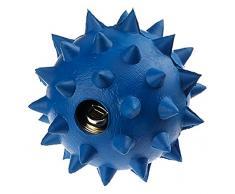 Classic Pet Products Gummi Spike Ball mit Glocke, Groß, 90 mm, blau
