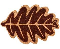 Esschert Design RB207 Fußmatte Herbstblatt Kokosfaser braun