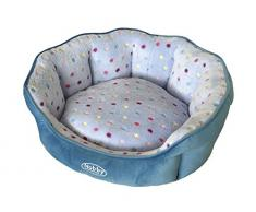 Nobby 60662 Komfort Bett oval Spot, hellblau-türkis, 65 x 57 x 22 cm