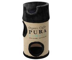 Europet Bernina 431431832 Katzenmöbel Cat Dome Coffee inklusiv Plüschkissen, schwarz