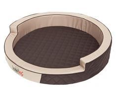 HobbyDog R1RINBRA4 Hundebett/Sofa / Korb Ringo Durchmesser, braun, Größe R1, 57 cm