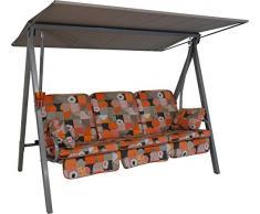 Angerer Vario Hollywoodschaukel 3-Sitzer Design Gera, orange, 210 x 145 x 160 cm, 6012/087/40