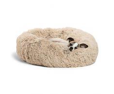 Sheri Calming Shag Kuscheldecke aus veganem Fell, Verschiedene Größen, Donut Small 23, Taupe