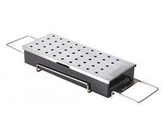 Räucherbox Edelstahl für Räucher-Chips verleiht Fleisch Fisch Rauch-Auroma Universal geeignet Holzkohlegrill Gas-Grill