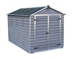Palram Skylight Shed Gerätehäuser, dunkel grau/anthrazit, 305.5 x 185.5 x 217 cm