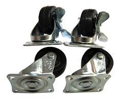 Lenkrollen mit Bremsen D5xH5cm für Polyrattan Pflanztrog Pflanzkübel Blumenkübel Kissenbox