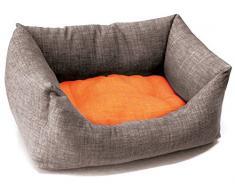 Croci C2078569 Kissen Dual, orange/grau, 85 x 70 cm