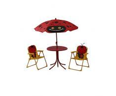 Siena Garden Kindersitzgruppe Marie, cm, Gestell: Stahl, in rot, Fläche: Polyester in grün