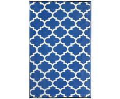 Fab Hab - Tangier - Regattablau & Weiß - Teppich/ Matte für den Innen- und Außenbereich (120 cm x 180 cm)
