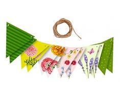 moses. Dekogirlande für den Garten | Wimpelkette zur Dekoration bei Gartenpartys oder Anderen Festen | Im farbenfrohen Blatt & Blüte Design