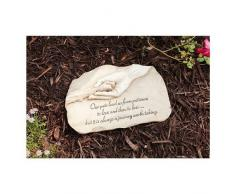 Evergreen Garden Trittstein für Hunde, Pfotenabdruckmotiv, aus Polystein, 30,5 x 1,3 x 19 cm