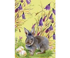 Morigins Osterhase Eier doppelseitig Spring Flower House Flagge 71,1 x 101,6 cm