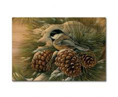 WGI-GALLERY WA-DDC-128 Wandbild December Dawn Chickadee