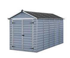 Palram Skylight Shed Gerätehäuser, dunkel grau/anthrazit, 380 x 185.5 x 217 cm
