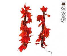 ABC Home Garden Ahorn ♦ ♦ Solarleuchte ♦ Solarstecker ♦ Gartenstecker ♦ LED ♦ 2er Set ♦ EIN- & Ausschalter ♦ Lichtsensor ♦ ♦, orange, braun, rot