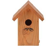 Esschert Design Nistkasten Zaunkönig, 14,2 x 11,2 x 19,8 cm, Vogelhaus aus Douglasieholz, Vogelhäuschen, Nisthäuschen