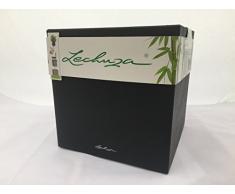 Lechuza CANTO Stone low 30, graphitschwarz, Hochwertiger Kunststoff, Inkl. Bewässerungssystem, Herausnehmbarer Pflanzeinsatz, für Innen- und Außenbereich, 13702