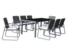 Westfield Barite Gartentisch und Stühle Essen im Freien Garten Set, Weiß/Grau