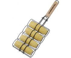 Campingaz 203201 Antihaftbeschichteter Grillkorb für Maiskolben mit Holzgriff, für 4 Maiskolben
