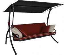 Angerer 441000/182/21 Elegance Style Hollywoodschaukel Style, orange, 3-Sitzer
