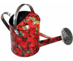 Verdemax 5952 WC 5 Liter Erdbeeren Design Zink Gießkanne