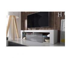 TV-Schrank mit LED in Weiß/Grau