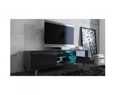 Rivano 2 TV-Schrank mit LED in Schwarz