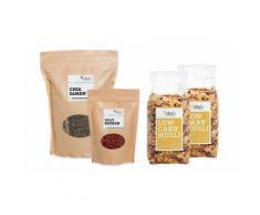 vitafy Low Carb Frühstück-Früchte-Set mit Früchte-Müsli 525 g, Chia-Samen 1000 g und Bio-Gojibeeren 250 g