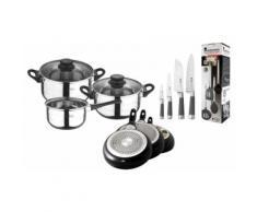 San Ignacio Set: 4-teiliges Küchenzubehör-Set, 4-teiliges Messer-Set, 3-teiliges Pfannen-Set und 5-teiliges Töpfe-Set