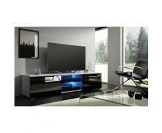 Tenus TV-Schrank mit LED in Weiß/Schwarz