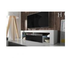 TV-Schrank mit LED in Weiß/Schwarz