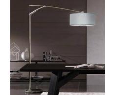 Vibia Balance Steh-/Bogenleuchte m. Dimmer B:50 H:210 T:215 cm, nickel matt/aluminium grau 519230, EEK: A++. Diese Leuchte ist geeignet für Leuchtmittel der Energieklassen: A++, A+, A, B, C, D, E.