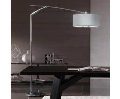 Vibia Balance Steh-/Bogenleuchte mit Dimmer B: 50 H: 210 T: 215 cm, chrom/aluminium grau 519201, EEK: A++. Diese Leuchte ist geeignet für Leuchtmittel der Energieklassen: A++, A+, A, B, C, D, E.