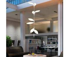 Oligo FLAVIA LED Pendelleuchte Set 4x2 Blätter Prismatik geschlossen H: 300 cm, weiß matt 52-870-21-21, EEK: A+. Diese Leuchte enthält eingebaute LED-Lampen. A++ (LED), A+ (LED), A (LED). Die Lampen können in der Leuchte nicht ausgetauscht werden.