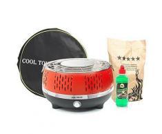 COOL TOUCH GRILL 2.0 Holzkohle- Tischgrill, geringe Rauchentwicklung 5J.Herstellergarantie