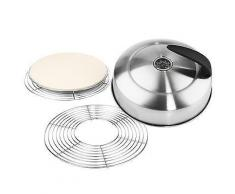 COOL TOUCH GRILL Grill-Set Pizzaplatte inkl. Deckel