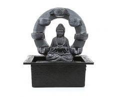 LUMIDA Casa Tischbrunnen Buddha Timerfunktion ca. 21x18x27,8cm