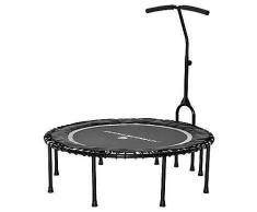 FLEXI-SPORTS Fitness Trampolin Ø 115cm inkl. Haltestange & neuer Workout-DVD