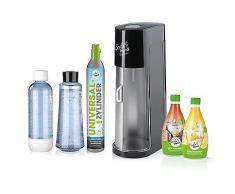 SODATREND Deluxe Wasser- sprudler mit Glas- & PET-Flasche inkl. 2 Sirupe