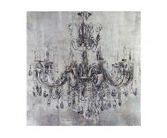 ABELLA Arte kunstvolle Dekoration Wandbild Kronleuchter inkl. Strasssteine ca. 80x80cm