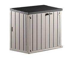 TOOMAX Aufbewahrungs- & Mülltonnenbox Holz-Optik Fassungsvermögen 840L