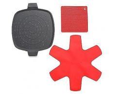 WOLL® Spritzschutz 2x Topflappen & 1x Pfannenschutz Silikon, 4tlg.