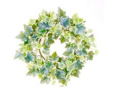 Emerald Kunstpflanze Efeukranz Grün und Weiß 35 cm 416347