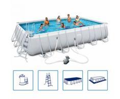 Bestway Power Steel Schwimmbad eckig Stahlrahmen 671x366x132cm 56470
