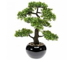 Emerald Kunstpflanze Bonsai Ficus Grün 47 cm 420006